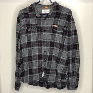 Field & Stream Black and Red Button Down Flannel